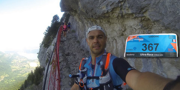 Ludovic Jamin, finisher de l'Ultra de la Maxi-Race d'Annecy 2017.