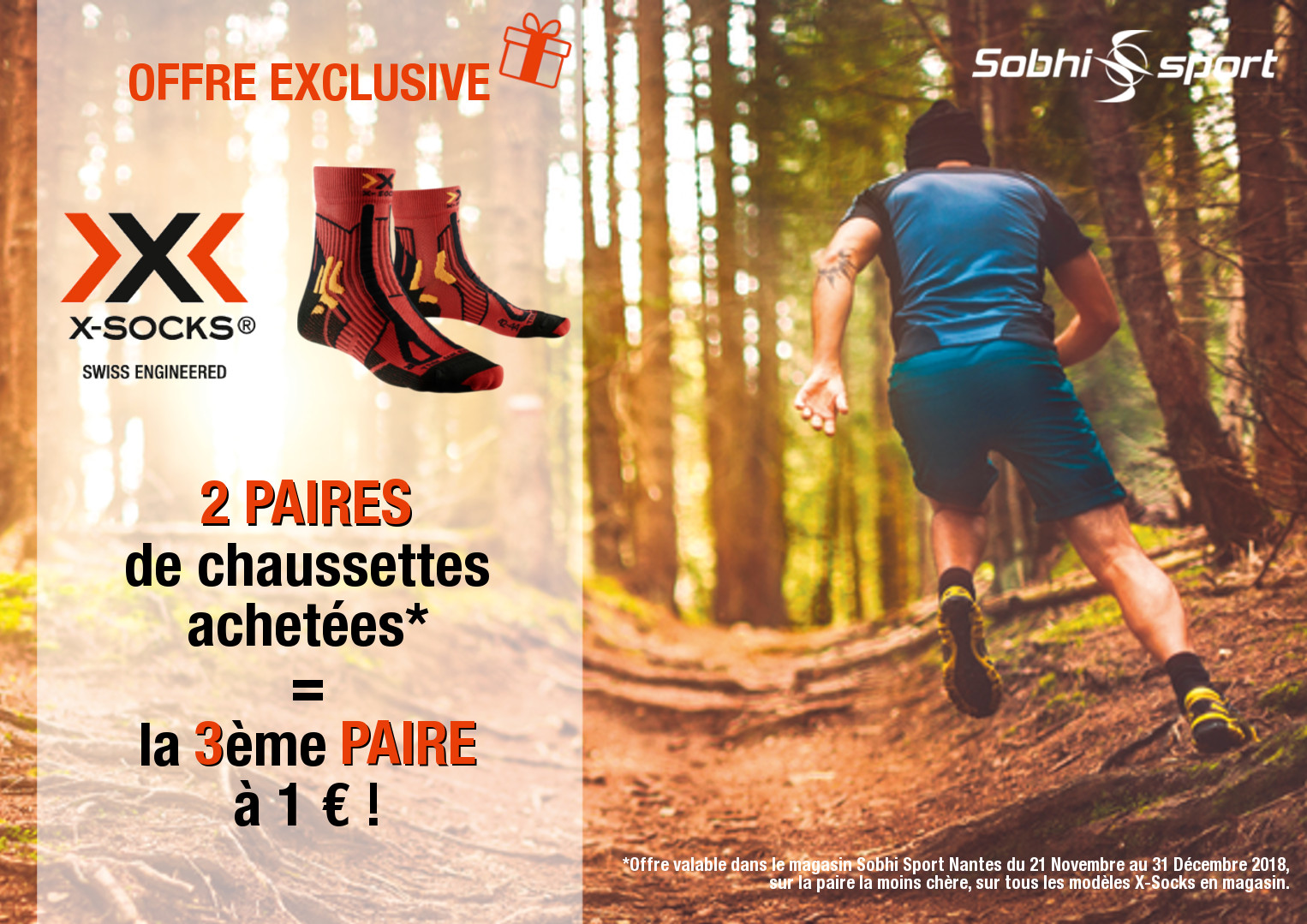 Offre exclusive chaussettes running X-SOCKS !